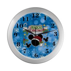 A Magical Christmas Silver Color Wall Clock