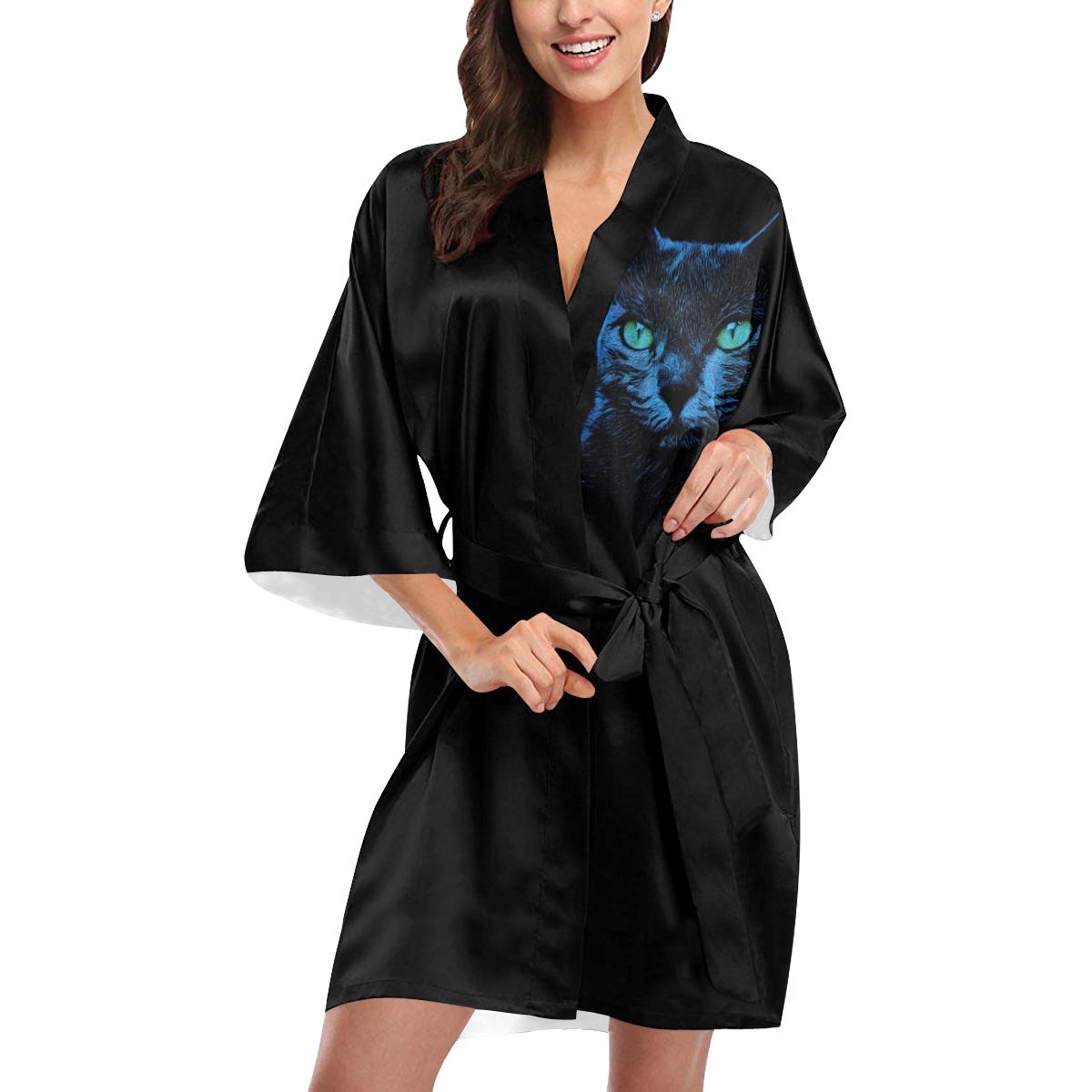 BLUE CAT Kimono Robe