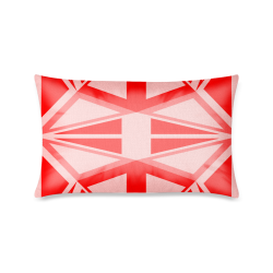 """Abstract pattern geometric backgrounds Custom Zippered Pillow Case 16""""x24""""(One Side Printing)"""