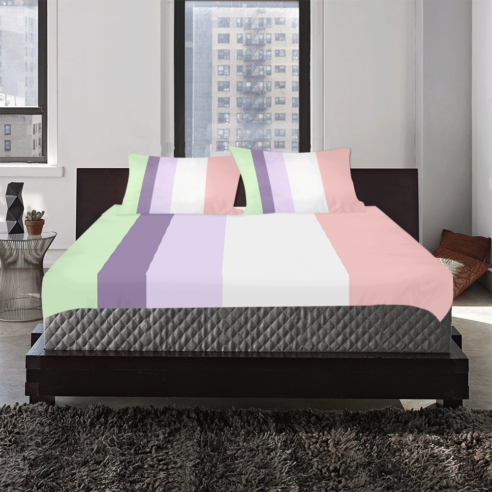 Tana Bush Stripes 3-Piece Bedding Set