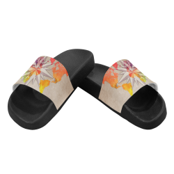 world map wind rose #map #worldmap Women's Slide Sandals (Model 057)