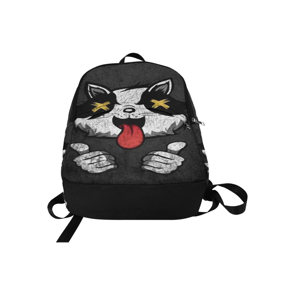 Woke Trash Panda Rave Festival Fabric Backpack for Adult (Model 1659)