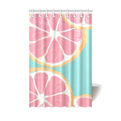 "orange Shower Curtain 48""x72"""