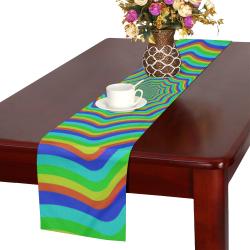 Vortex rainbow Table Runner 16x72 inch