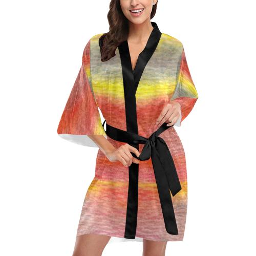 Chromatic Kimono Robe