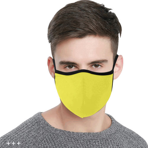 Yummy Lily Yellow Solid Color 3D Mouth Mask (2 Filters Included) (Model M03) (Non-medical Products)