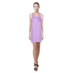 Purple ASL I Love You Helen Sleeveless Dress (Model D10)