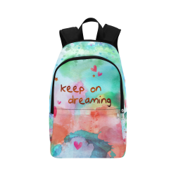 KEEP ON DREAMING - rainbow Fabric Backpack for Adult (Model 1659)