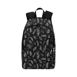 BLACK DANCING LEAVES Fabric Backpack for Adult (Model 1659)