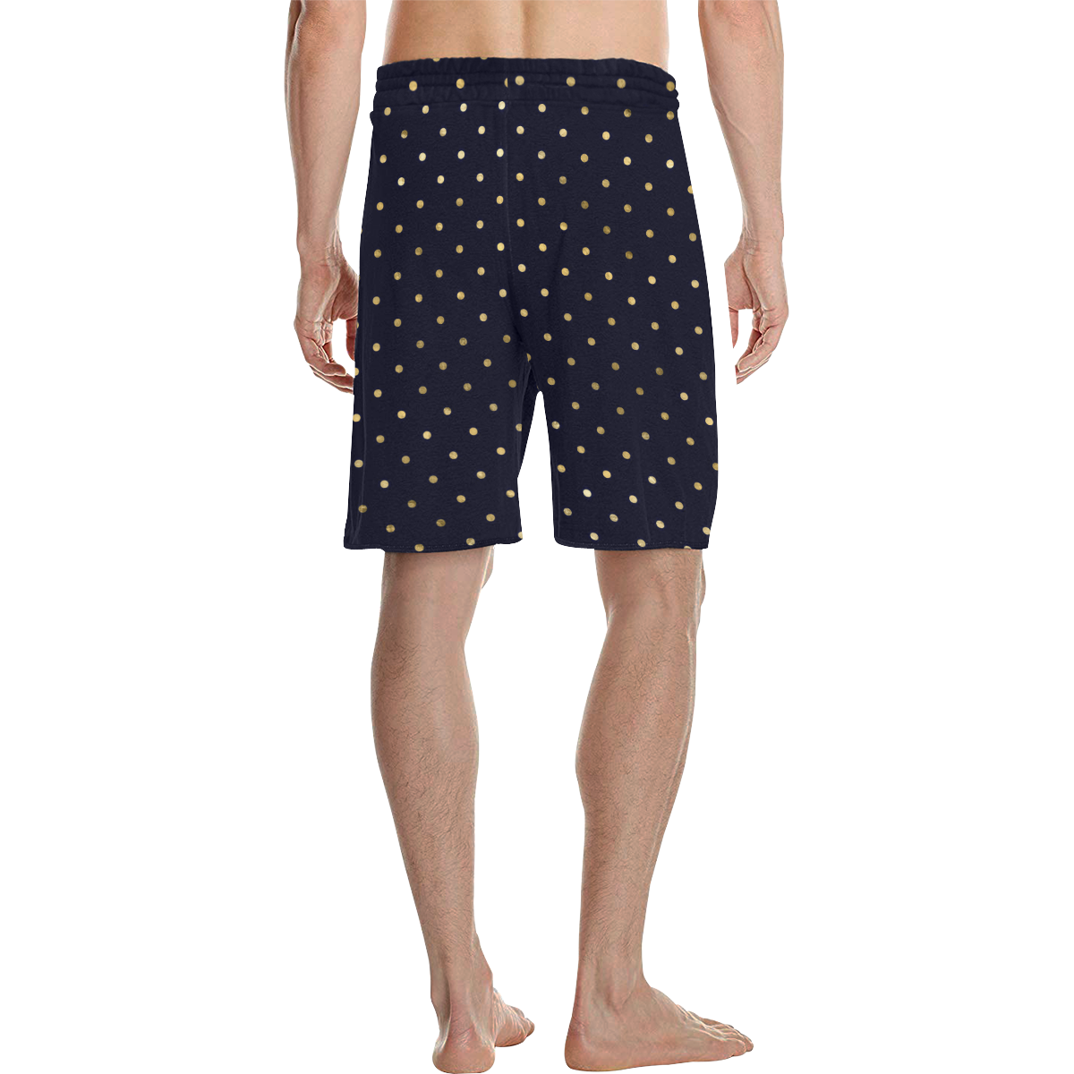 Marcelo golden dots on navy Men's All Over Print Casual Shorts (Model L23)