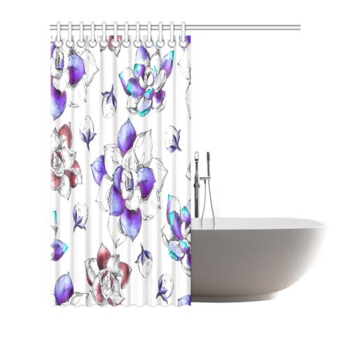 "floral n Shower Curtain 66""x72"""