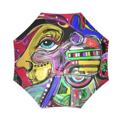Abstract Human Face Foldable Umbrella (Model U01)