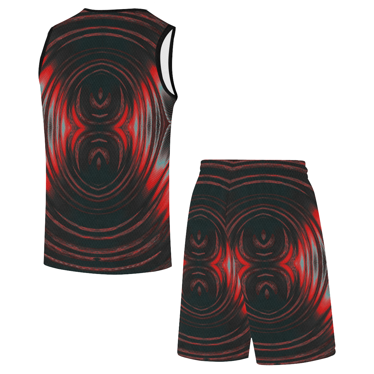 5000TRYtwo2 106 dEEP mONSTER  8 25 A sml All Over Print Basketball Uniform