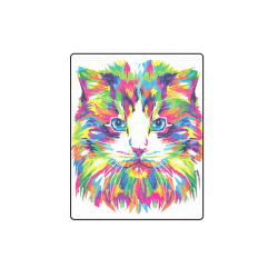 "Rainbow Cat Blanket 40""x50"""