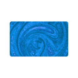 "Navy Abstract Nature's Grain Doormat 30""x18"""