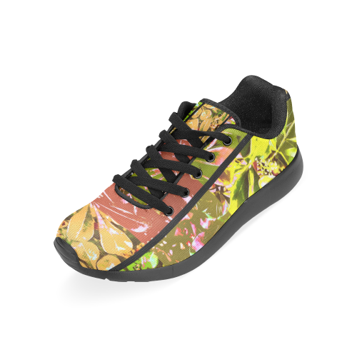 Foliage Patchwork #5 by Jera Nour Women's Running Shoes/Large Size (Model 020)