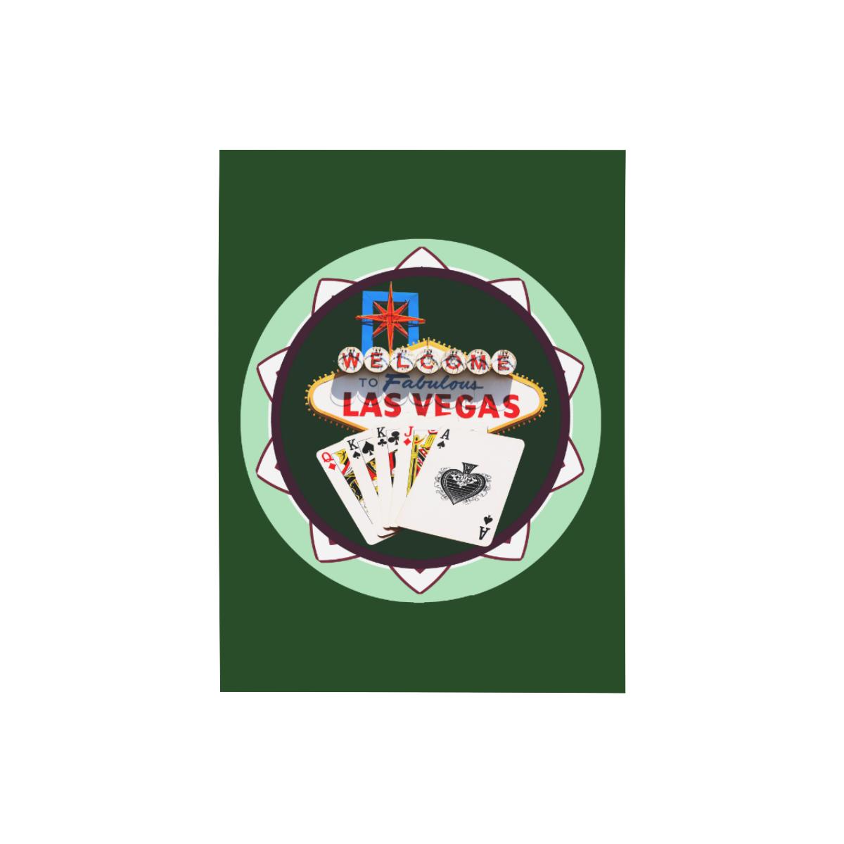 "LasVegasIcons Poker Chip - Poker Hand on Green Photo Panel for Tabletop Display 6""x8"""
