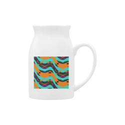 Blue orange black waves Milk Cup (Large) 450ml
