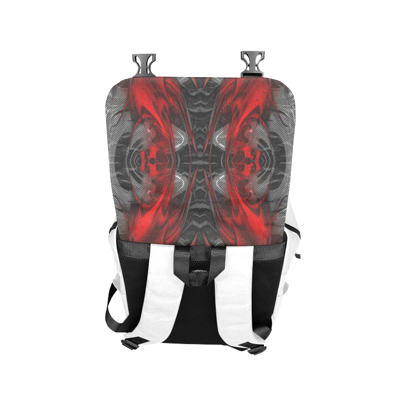 xxsml Red Rave Crew Casual Shoulders Backpack (Model 1623)
