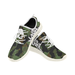 OG Camo Kicks Grus Men's Breathable Woven Running Shoes (Model 022)