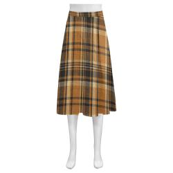 TARTAN DESIGN Mnemosyne Women's Crepe Skirt (Model D16)