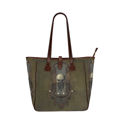 Awesome dark skull Classic Tote Bag (Model 1644)