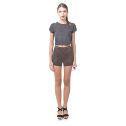 Brown Crackling Pattern Briseis Skinny Shorts (Model L04)