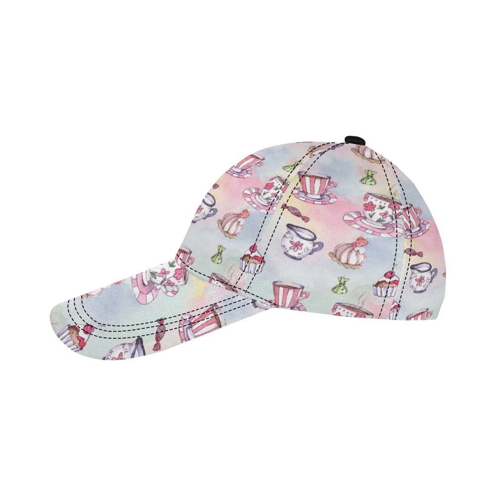 Coffee and sweeets All Over Print Dad Cap C (7-Pieces Customization)