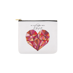 RED HEART WIREFRAME Carry-All Pouch 6''x5''