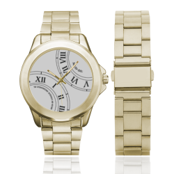 Roman Numeral White Faced Custom Gilt Watch(Model 101)