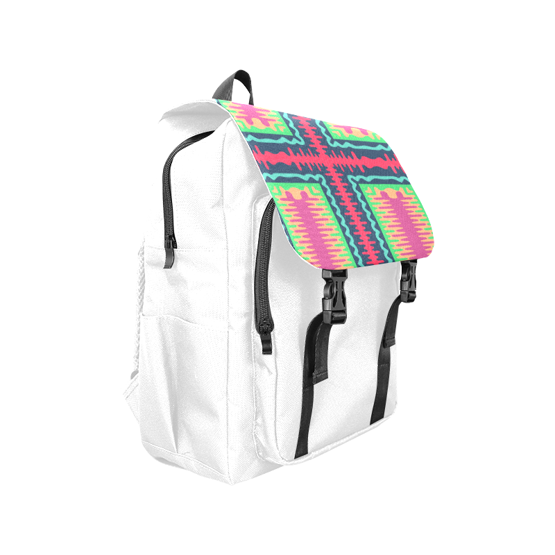 Waves in retro colors Casual Shoulders Backpack (Model 1623)