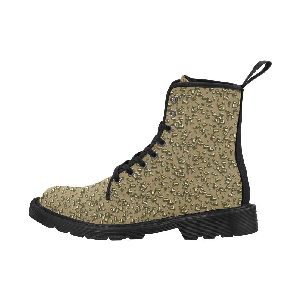 golden drops Martin Boots for Men (Black) (Model 1203H)