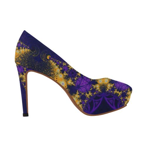 Twilight Jungle Leaves Women's High Heels (Model 044)
