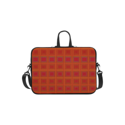 "Red orange golden multicolored multiple squares Laptop Handbags 11"""
