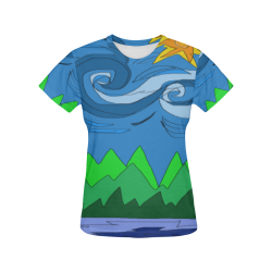 Abstract Day All Over Print T-Shirt for Women (USA Size) (Model T40)