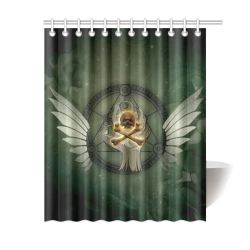 "Skull in a hand Shower Curtain 60""x72"""