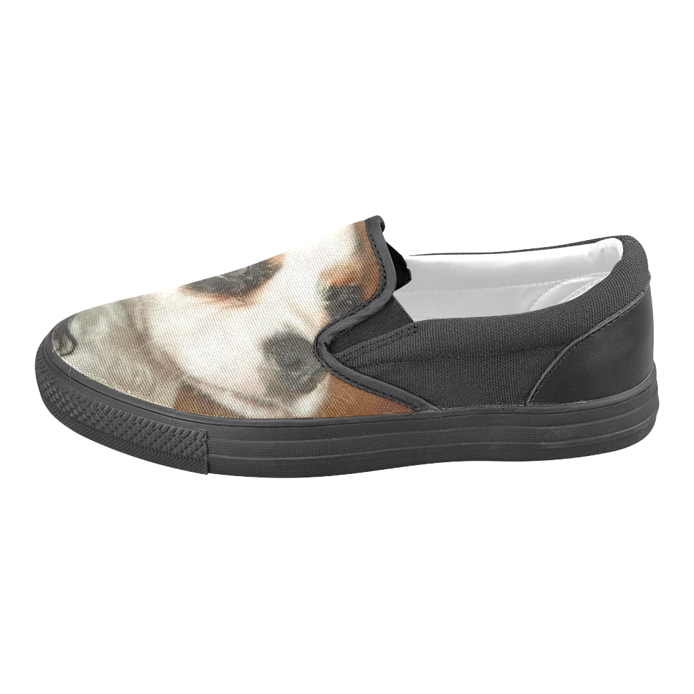 queenie for shoes1 Women's Unusual Slip-on Canvas Shoes (Model 019)