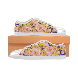 Rose Flower Women's Canvas Shoes (Model 016)