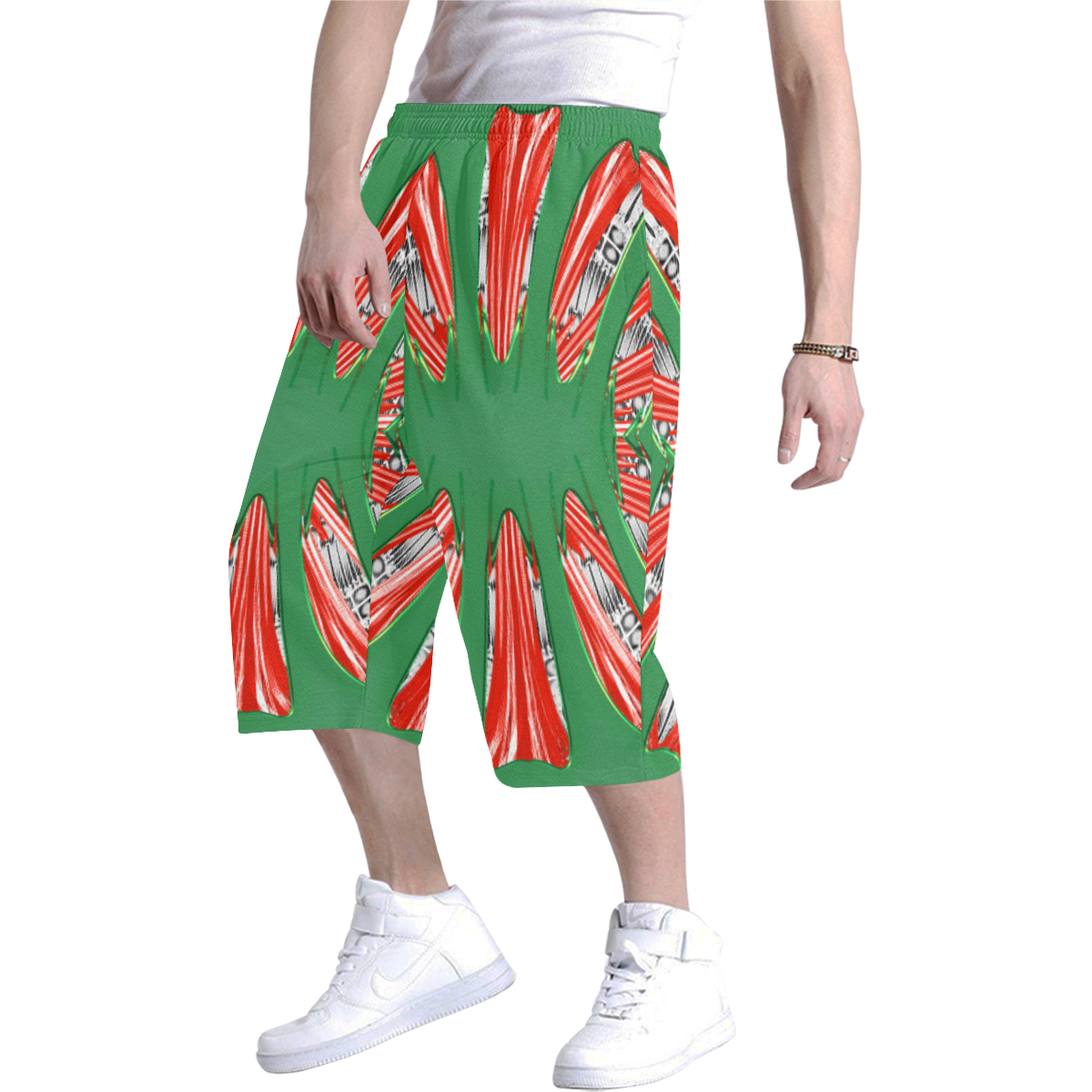 8000  EKPAH 9 Men's All Over Print Baggy Shorts (Model L37)
