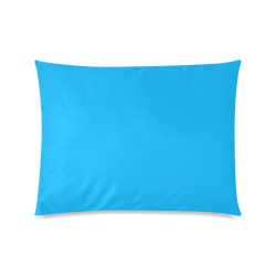 "Neon Sky Blue Custom Zippered Pillow Case 20""x26""(Twin Sides)"