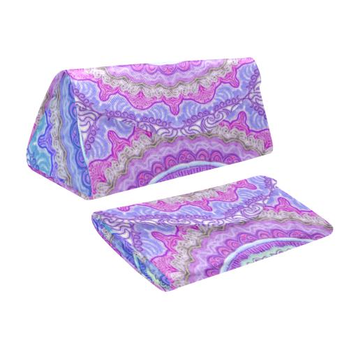 mandala neon 8 Custom Foldable Glasses Case