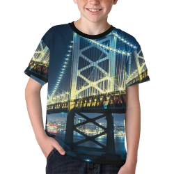 shiny bridge Kids' All Over Print T-shirt (Model T65)
