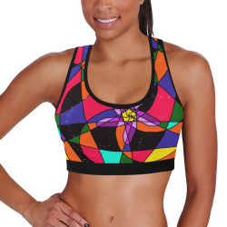 Abstract Design S 2020 Women's All Over Print Sports Bra (Model T52)