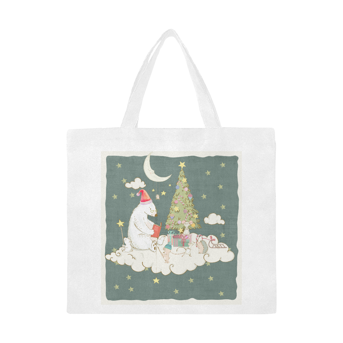 Cute Christmas Dreams Canvas Tote Bag/Large (Model 1702)