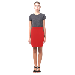 Red Pencil Skirt (solid color) Nemesis Skirt (Model D02)