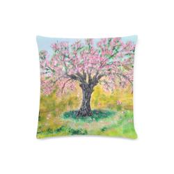 "PINK ALMOND TREE acrylic Custom Zippered Pillow Case 16""x16"" (one side)"