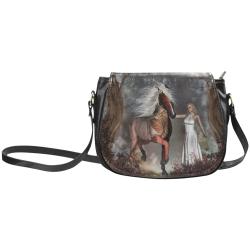 Fantasy horse with fairy Classic Saddle Bag/Large (Model 1648)