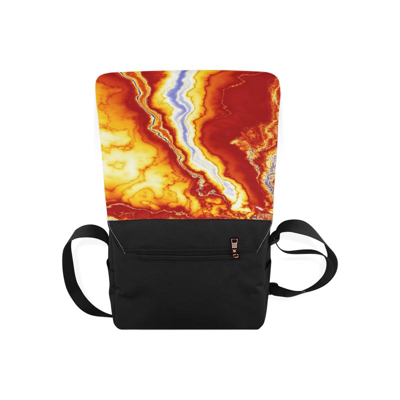 Marble Geode Messenger Bag (Model 1628)