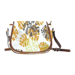 Gorgeous Floral - Nature Themed Saddle Bag/Large (Model 1649)