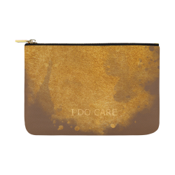 Magnus_I do CARE blue gold brown whales design pouch by PiccoGrande Carry-All Pouch 12.5''x8.5''